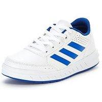adidas Alta Sport Junior Trainer, White/Blue, Size 5