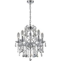 Product photograph showing Annalee Large 5 Light Chandelier
