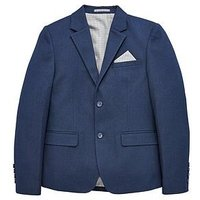 V by Very Boys Occasionwear Smart Suit Jacket, Navy, Size 6 Years