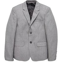 V by Very Boys Occasionwear Smart Suit Jacket, Grey, Size 12 Years
