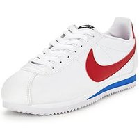 Nike Classic Cortez Leather, White/Red, Size 5, Women