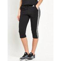 adidas Essentials 3 Stripe 3/4 Pants , Black, Size Xs, Women
