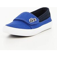 Lacoste MARICE CANVAS SHOES, Blue/Navy, Size 4 Younger