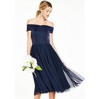 V By Very Bridesmaid Tutu Bardot Prom Dress