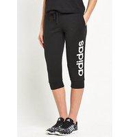 adidas Essentials Linear 3/4 Pant, Black, Size L, Women