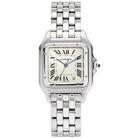 Cartier Cartier Preowned Steel Panthere Off White Dial Black Roman Numerals Reference 1310 Mens Watch, One Colour, Men