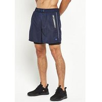 Superdry Sport Active Double Layer Shorts, Navy, Size Xs, Men