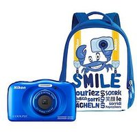 Nikon Coolpix W100 Blue Camera With Backpack Kit