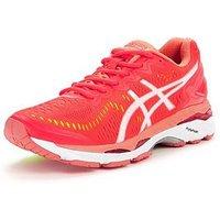 Asics Gel-Kayano 23 Running Shoe - Pink/White, Pink/White, Size 3, Women