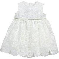 Mamas & Papas Baby Girls Lace Dress, Cream, Size 2-3 Years