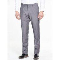 V by Very Tailored Trouser, Grey, Size 30, Inside Leg Regular, Men