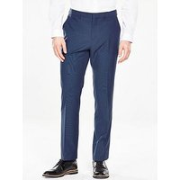 V by Very Tailored Trouser - Blue, Bright Blue, Size 34, Inside Leg Long, Men