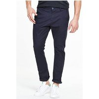 V by Very Slim Stretch  Chino, Navy, Size 34, Inside Leg Regular, Men