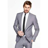 V by Very Skinny Jacket - Grey, Grey, Size Chest 40, Length Short, Men