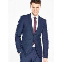 V by Very Mens Skinny Jacket - Blue, Bright Blue, Size Chest 38, Length Long, Men