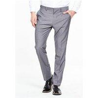 V by Very Slim Trouser, Grey, Size 40, Inside Leg Regular, Men