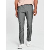 V by Very Slim Trouser - Grey, Grey, Size 30, Inside Leg Regular, Men