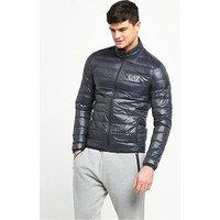 Emporio Armani EA7 Down Jacket, Anthracite, Size 2Xl, Men