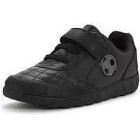 Clarks Boys Leader Game Shoes, Black, Size 2 Older