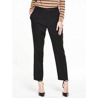 V by Very Tailored Slim Leg Trouser, Black, Size 8, Inside Leg Regular, Women