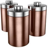Swan Townhouse Set Of 3 Storage Canisters - Copper