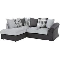 Product photograph showing Linear Left Hand Scatterback Compact Corner Chaise Sofa
