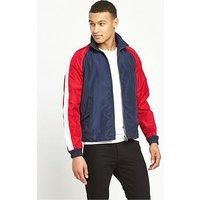 Hilfiger Denim Colour Block Sports Jacket, Black Iris / Multi, Size 2Xl, Men
