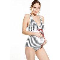 Mamalicious Maternity Swimsuit - Stripe