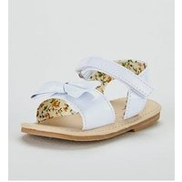 Mini V by Very Baby Girls Issy Sandals, White, Size 4 Younger