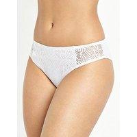 Pour Moi Puerto Rico Bikini Brief - White, White, Size 14, Women