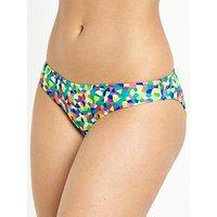 Pour Moi High Dive Bikini Brief, Bright Multi, Size 18, Women