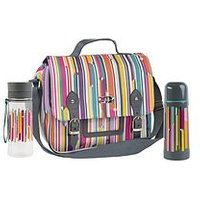 Beau & Elliot Linear Insulated Satchel With Vacuum Flask &Amp; Hydration Bottle