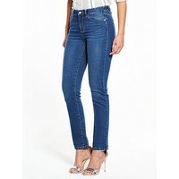 V by Very Ashton Mid Rise Slim Leg Jean, Medium Vintage, Size 20, Inside Leg Long, Women