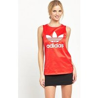 adidas Originals London Loose Tank - Red , Red, Size 8, Women