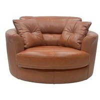 Clyde Premium Leather Swivel Chair