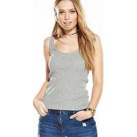 V by Very TALL Ribbed Vest, Khaki, Size 20, Women