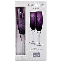 Denby Monsoon Cosmic Set Of 2 Champagne Flutes