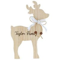 Personalised Wooden Reindeer Family Name Decoration