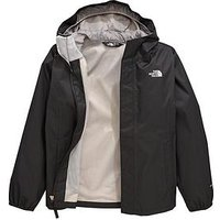 THE NORTH FACE THE NORTH FACE OLDER GIRLS RESOLVE REFLECTIVE JACKET, Black, Size 7-8 Years=S, Women