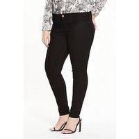 RI Plus Short Leg Skinny Jeans, Black, Size 28, Women