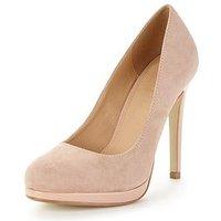 V by Very Shona Concealed Platform Patent Shoe, Nude, Size 6, Women