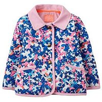 Joules Baby Girls Floral Quilted Jacket, Floral, Size 6-9 Months