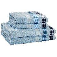 Product photograph showing Catherine Lansfield 4-piece Garrett Stripe Towel Bale