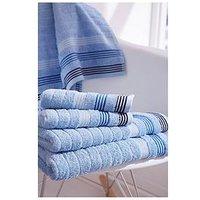 Product photograph showing Catherine Lansfield Garrett Stripe Bath Sheet Ndash Set Of 2