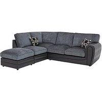 Product photograph showing Bardot Left-hand Standard Back Corner Chaise Sofa Footstool