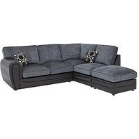 Product photograph showing Bardot Right-hand Standard Back Corner Chaise Sofa Footstool