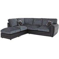 Product photograph showing Monico Left Hand Single Arm Standard Back Corner Chaise Sofa Footstool