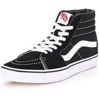 Vans SK8-Hi, Black/White, Size 10, Women