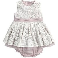 Mamas & Papas Baby Girls Lace Occasion Dress and Briefs Set (2 Piece), Pink, Size 3-4 Years