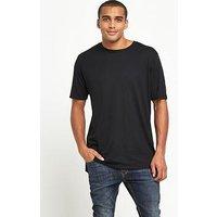 Nike Sportswear Drop Hem T-Shirt, Black, Size M, Men
